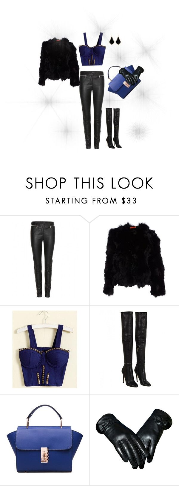 """""""Blue <3"""" by minka-989 ❤ liked on Polyvore featuring Alexander McQueen, Alice + Olivia, Jimmy Choo and Kendra Scott"""