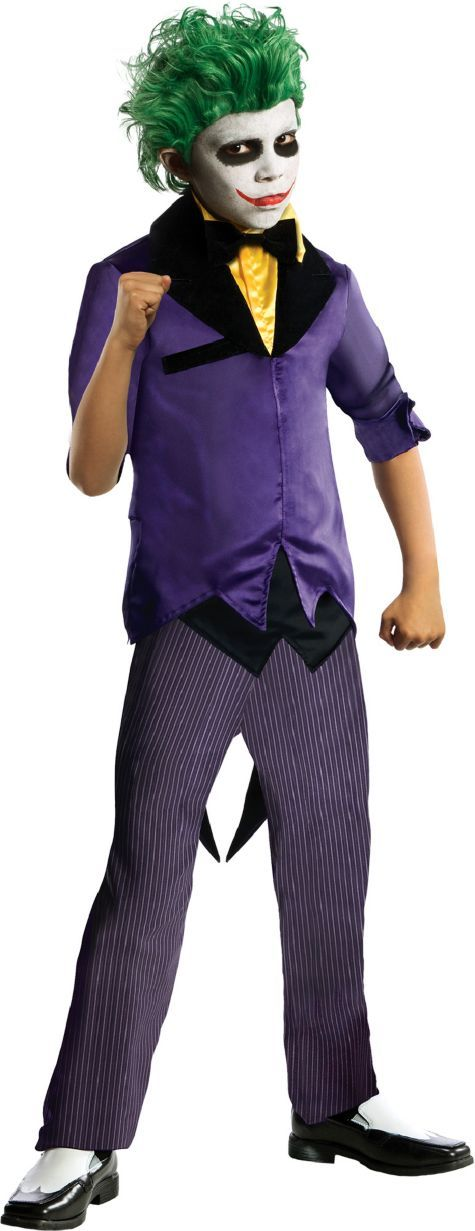 boys villains joker costume the dark knight party city canada - All Halloween Costumes Party City