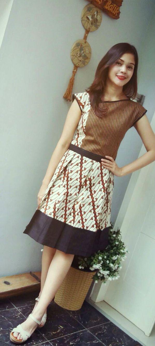 Dress batik parang combination by Batik Gendhis