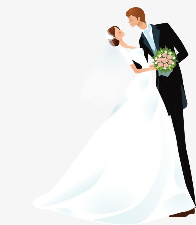 Cartoon Bride And Groom Bride Clipart Marry Wedding People Png Transparent Clipart Image And Psd File For Free Download Wedding Illustration Wedding Silhouette Bride And Groom Pictures