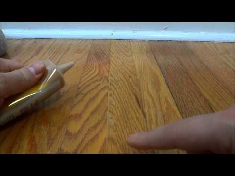 How To Fill In Gaps Between Hardwood Flooring With Wood Filler Youtube Wood Filler Old Wood Floors Restore Wood