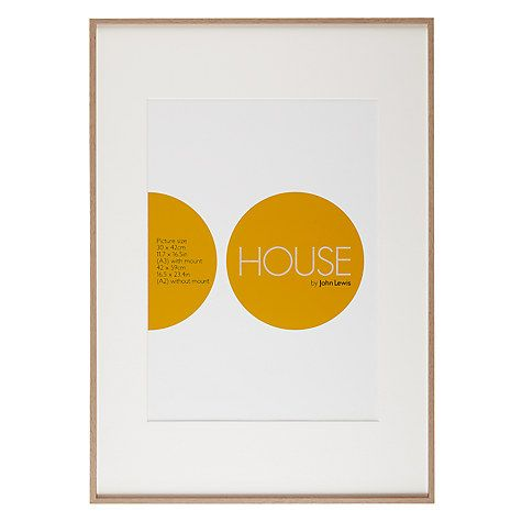 House By John Lewis Aluminium Photo Frame A2 With A3 Mount Natural