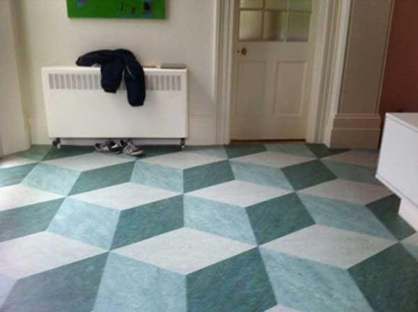 Flooring 3d Linoleum Tile Floor For Home Flooring Ideas