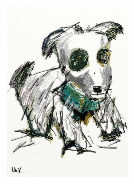 Instant Download Digital Print.Drawing.Puppy by InekedeVries