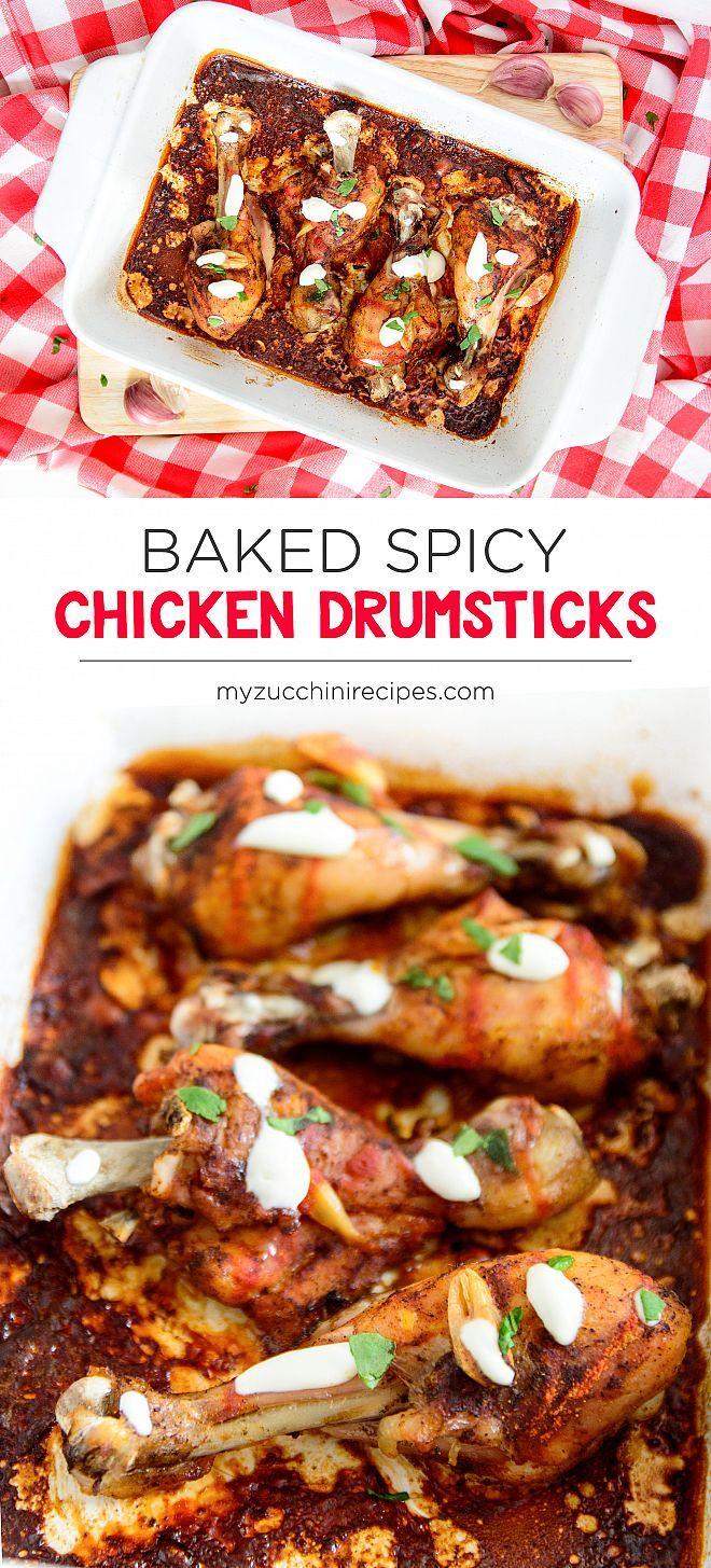 Baked spicy chicken drumsticks