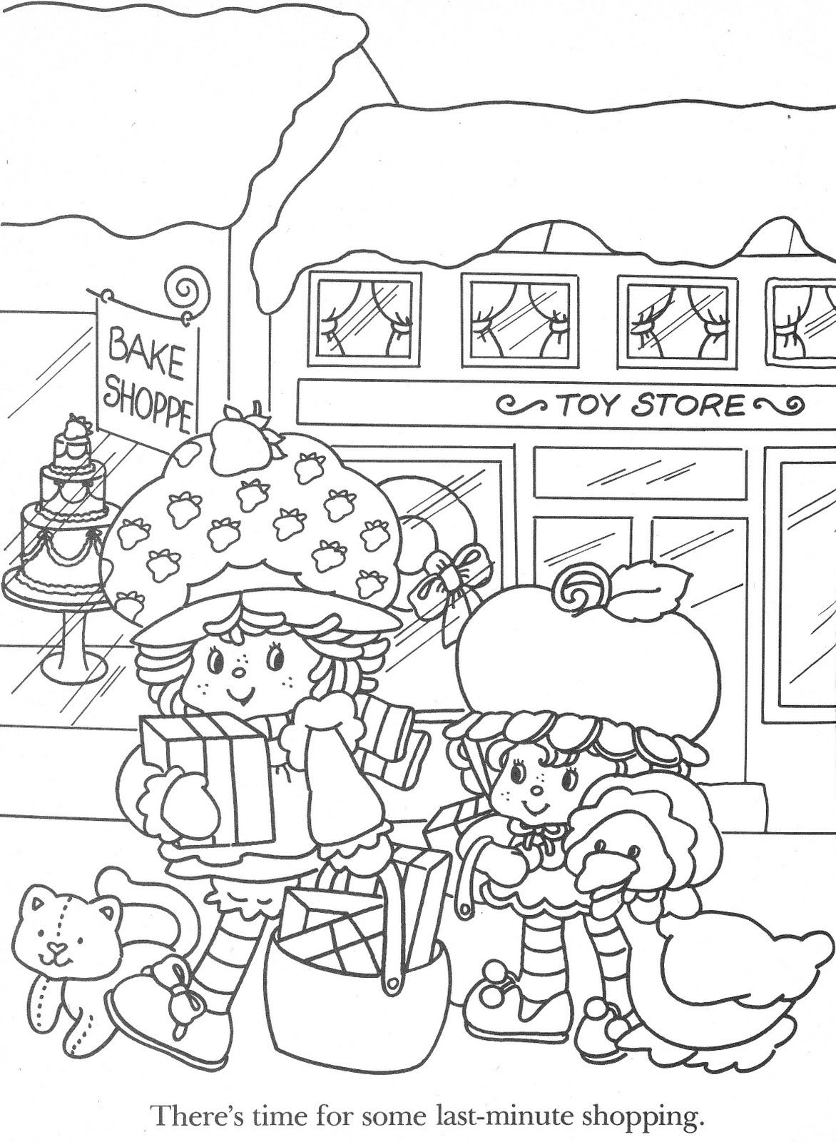 christmas strawberry shortcake coloring pages-#27