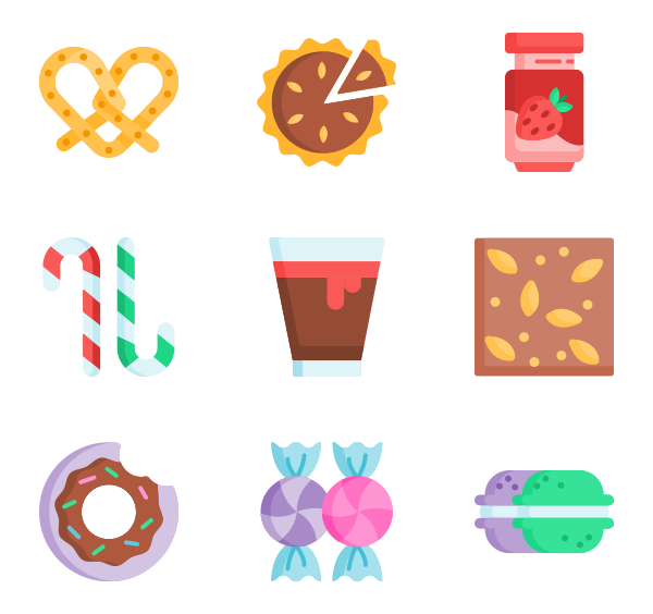50 Free Vector Icons Of Sweets And Candies Designed By Freepik Restaurant Icon Free Icons Vector Free