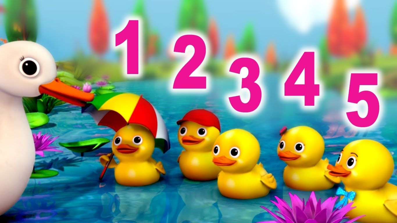 Baby Children Nursery Rhyme Song Number Song 5 Little Ducks Nursery Rhyme In Beautiful 3d