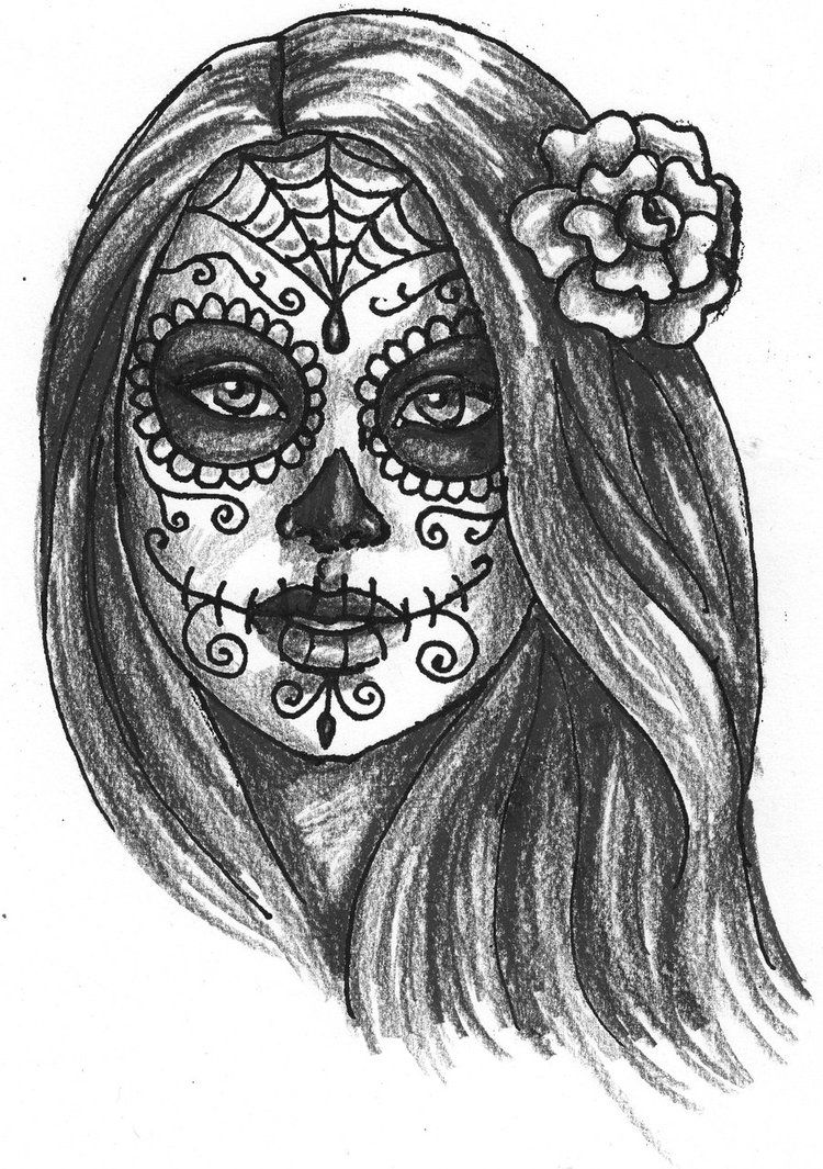 Day Of The Dead Drawings | Day of the Dead Girl by ~Dragonwings13 on ...
