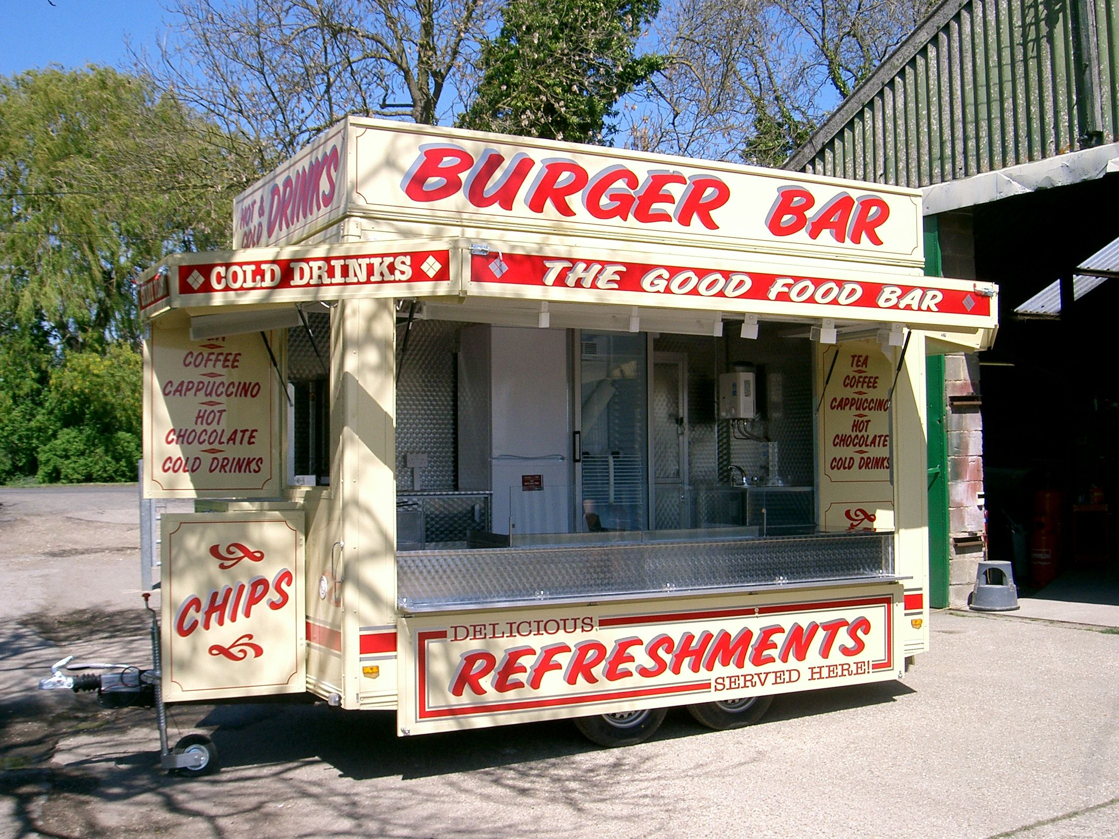 14 ft Showman's style Catering Trailer built by A and R