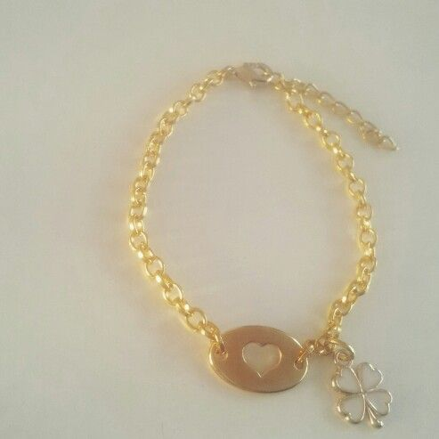 Golden bracelet DQ with heart connector