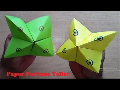 How to Make a Paper Fortune Teller - YouTube | 360x480