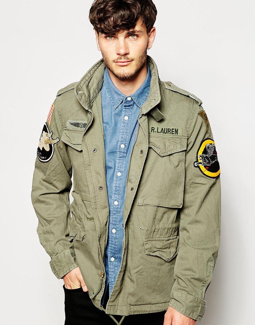 2019 original Luxus-Ästhetik viel rabatt genießen Denim & Supply Ralph Lauren Field Jacket with Patches ...