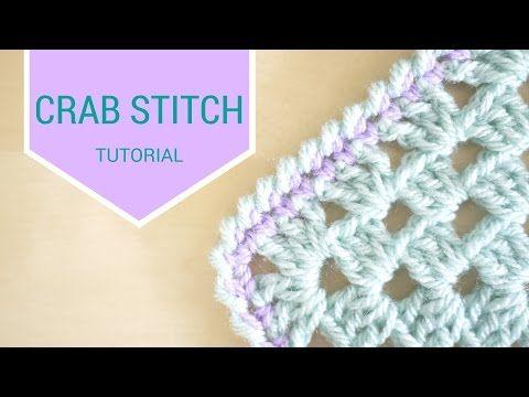 CROCHET: Crab stitch tutorial   Bella Coco - YouTube   Bella coco ...