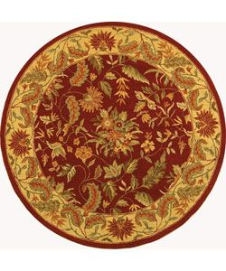 Shop for Safavieh Handmade Paradise Red Wool Rug (5'6 Round). Get free shipping at Overstock.com - Your Online Home Decor Outlet Store! Get 5% in rewards with Club O!