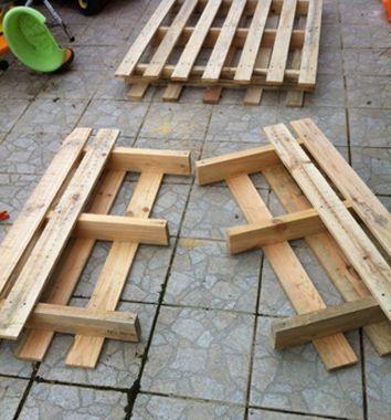 bricolage creer du mobilier de jardin avec des palettes en bois shunrize - Mobilier De Jardin En Palette De Bois