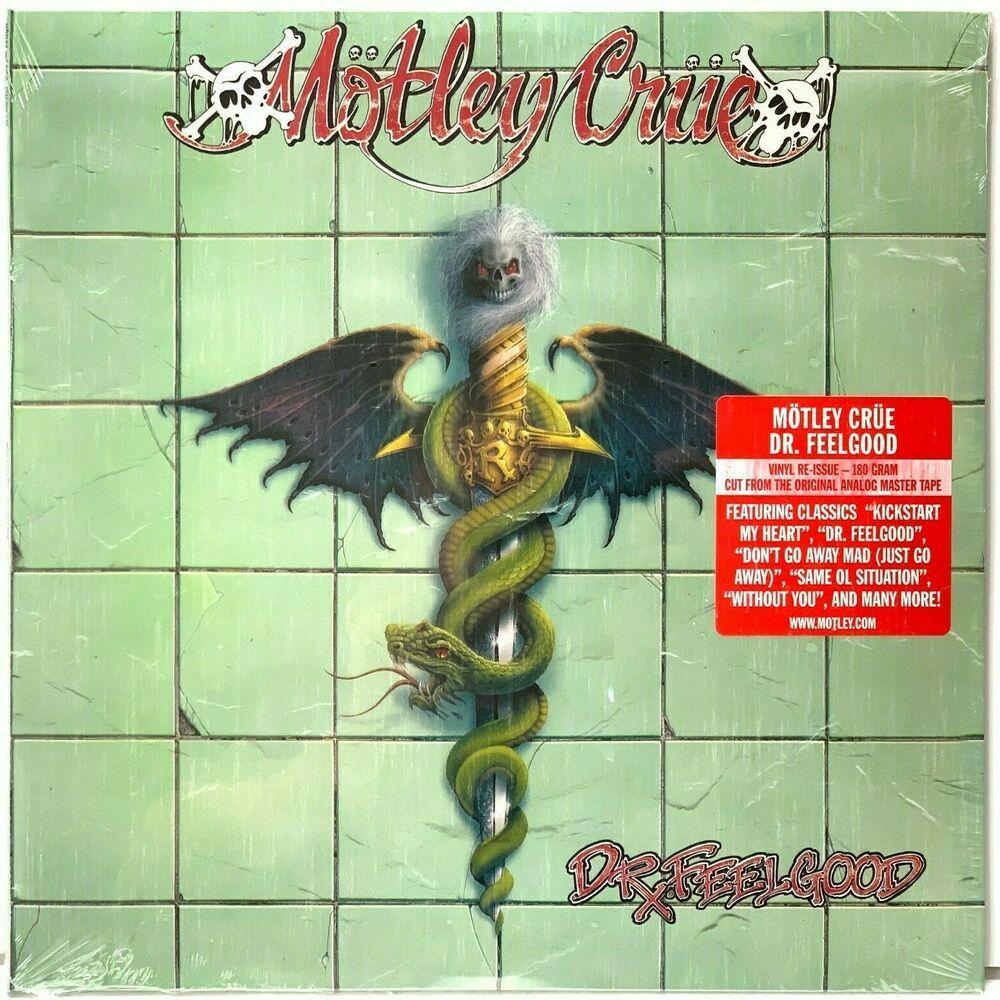 Motley Crue Dr Feelgood Current Pressing 180 Gram Sealed Vinyl Record Album In 2020 Motley Crue Vinyl Record Album Motley