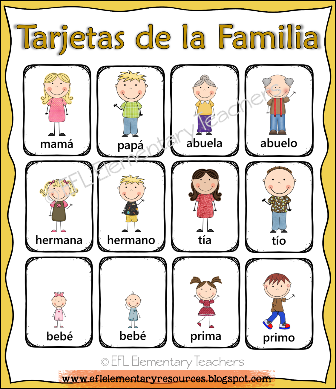 Family Flashcards For Esl Students Spanish There Are