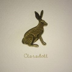 "Broche bronze ""mon lapin"" originale"