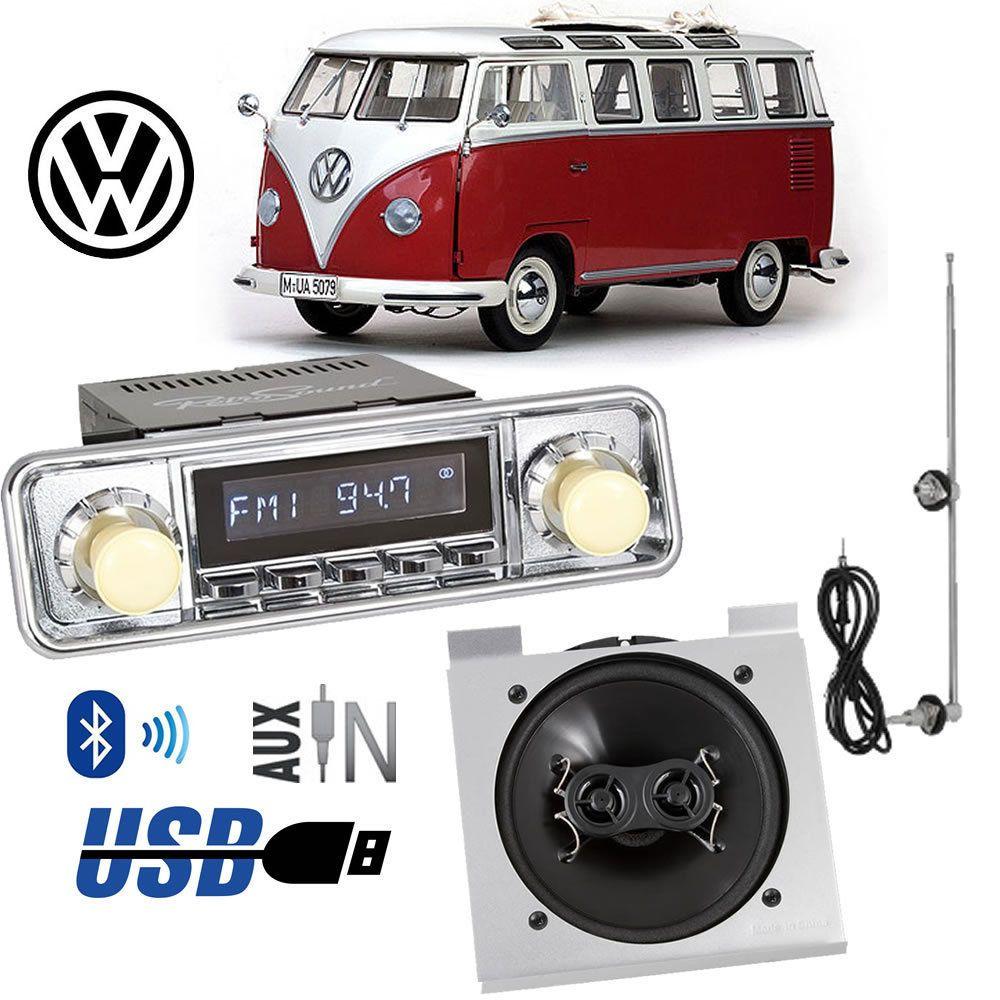 Vw Bus Bettle Retro Classic Style Modern Radio Dash Speaker