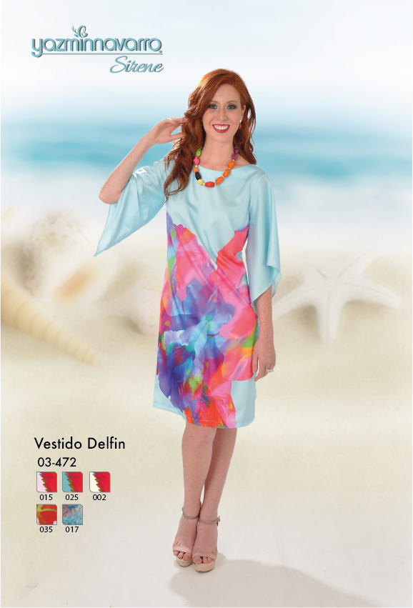facca76b43 Vestido tipo talego en seda. Estampación personalizada. Primavera-Verano  2017