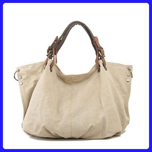 9e47eb80a2 Tiny Chou Retro Canvas Top Handle Cross Body Shoulder Bag Large Capacity Tote  Handbag for Women Beige - Shoulder bags ( Amazon Partner-Link)