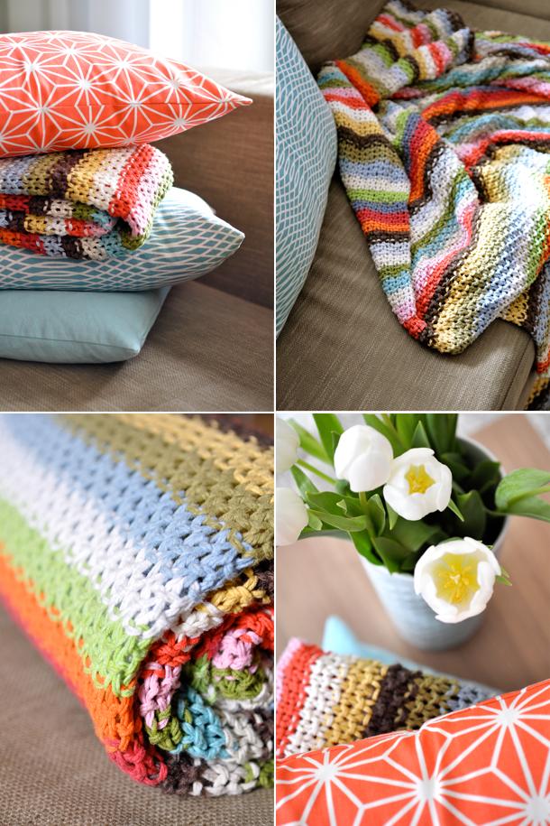 Decke Aus Wollresten Stricken Pinterest Knitting Corner Und Diy