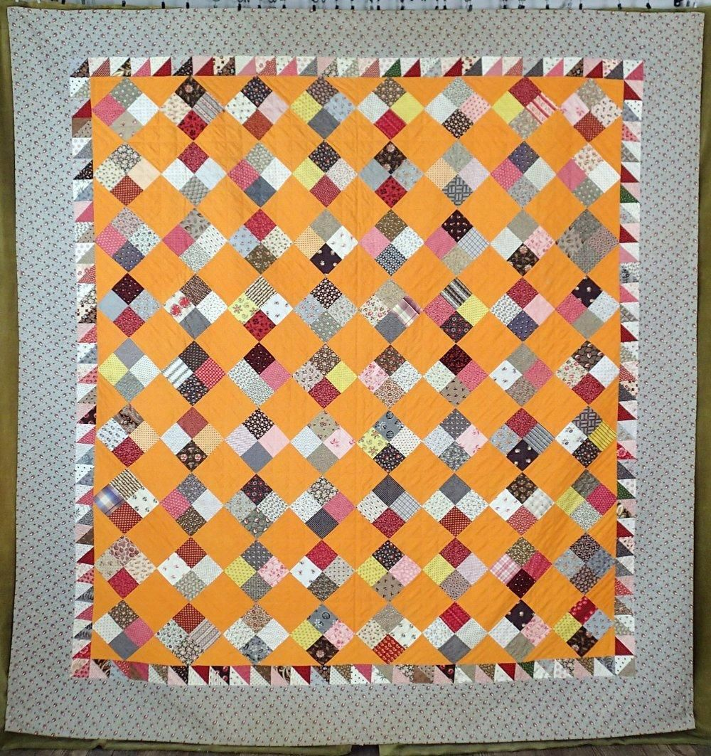 Civil War Cheddar Antique C1860 York County Pa Quilt 88x82 Flying Geese Border Quilts Civil War Quilts Vintage Quilts