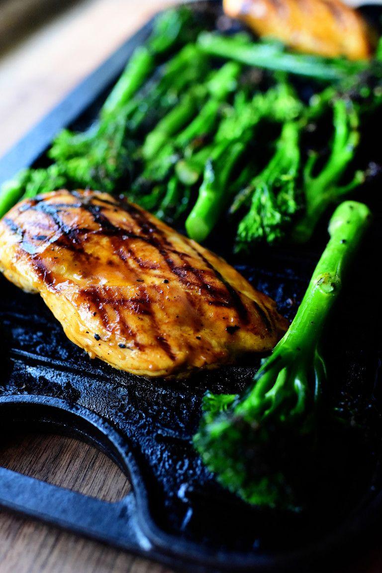 Grilled Peanut Chicken and Broccolini Recipe Peanut