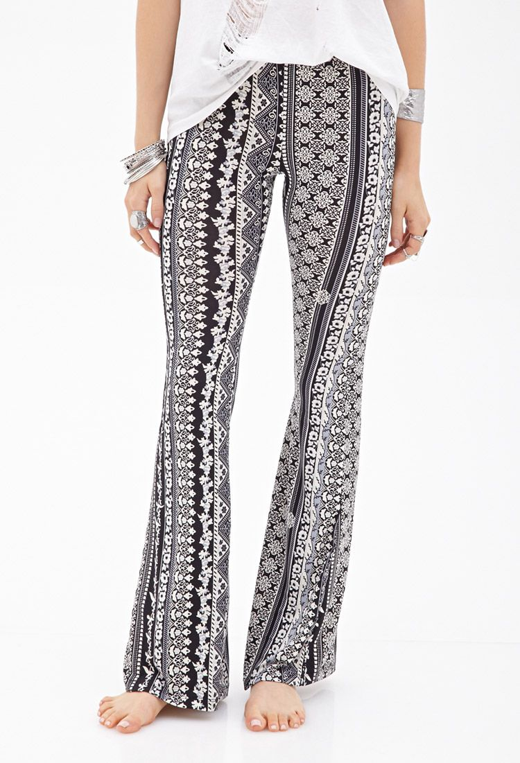Floral Bell Bottom Pants | FOREVER21 - 2000099897 | Clothing/Shoes ...