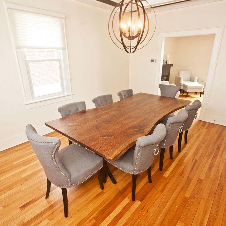 walnut-dining-table-live-edge | furniture | pinterest | walnut