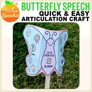 Butterfly Speech - S-blends Free Sample Print Pinterest Students