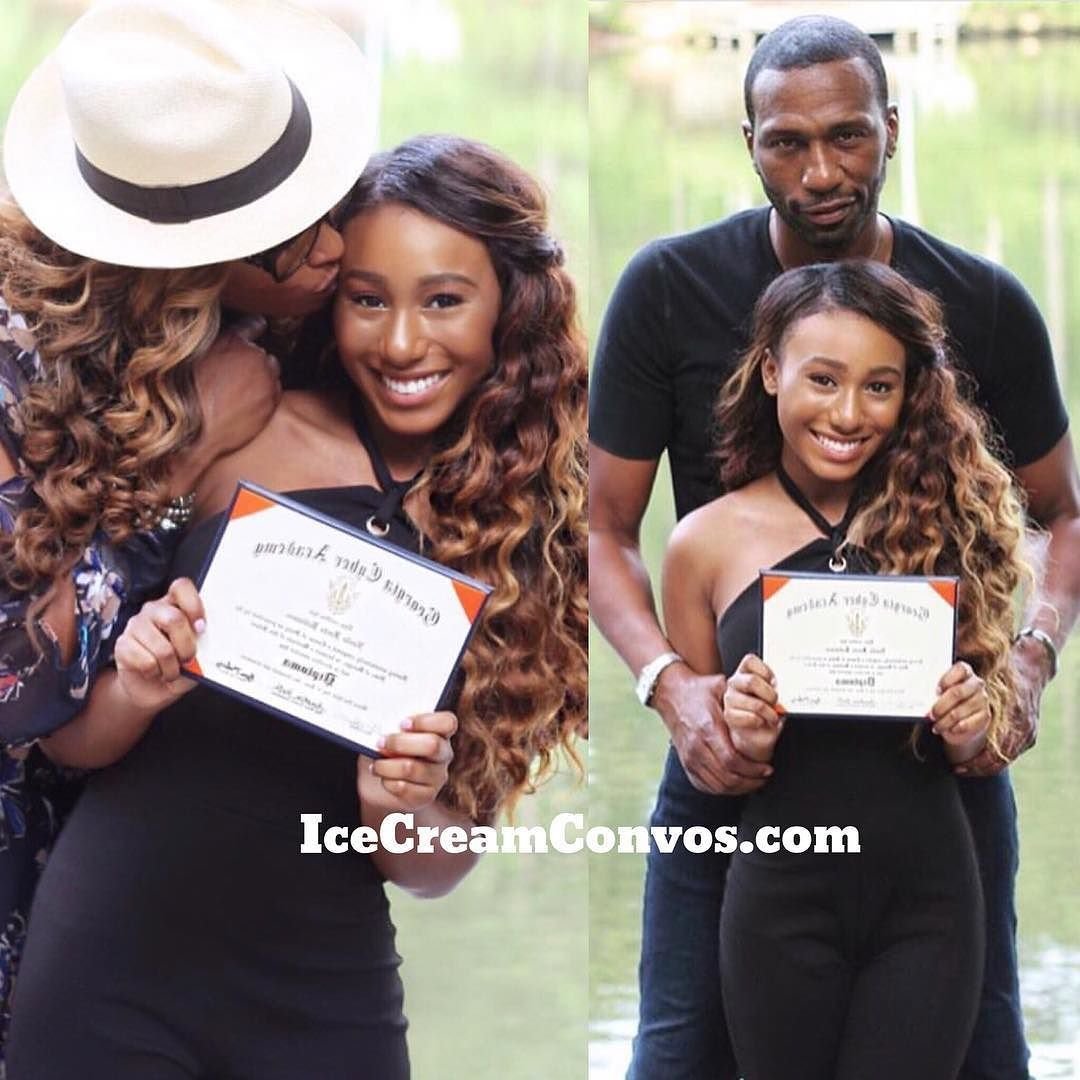 CONGRATS GRAD: #CynthiaBailey and #Leon's beautiful daughter #NoelleRobinson is officially a high school graduate! IceCreamConvos.com