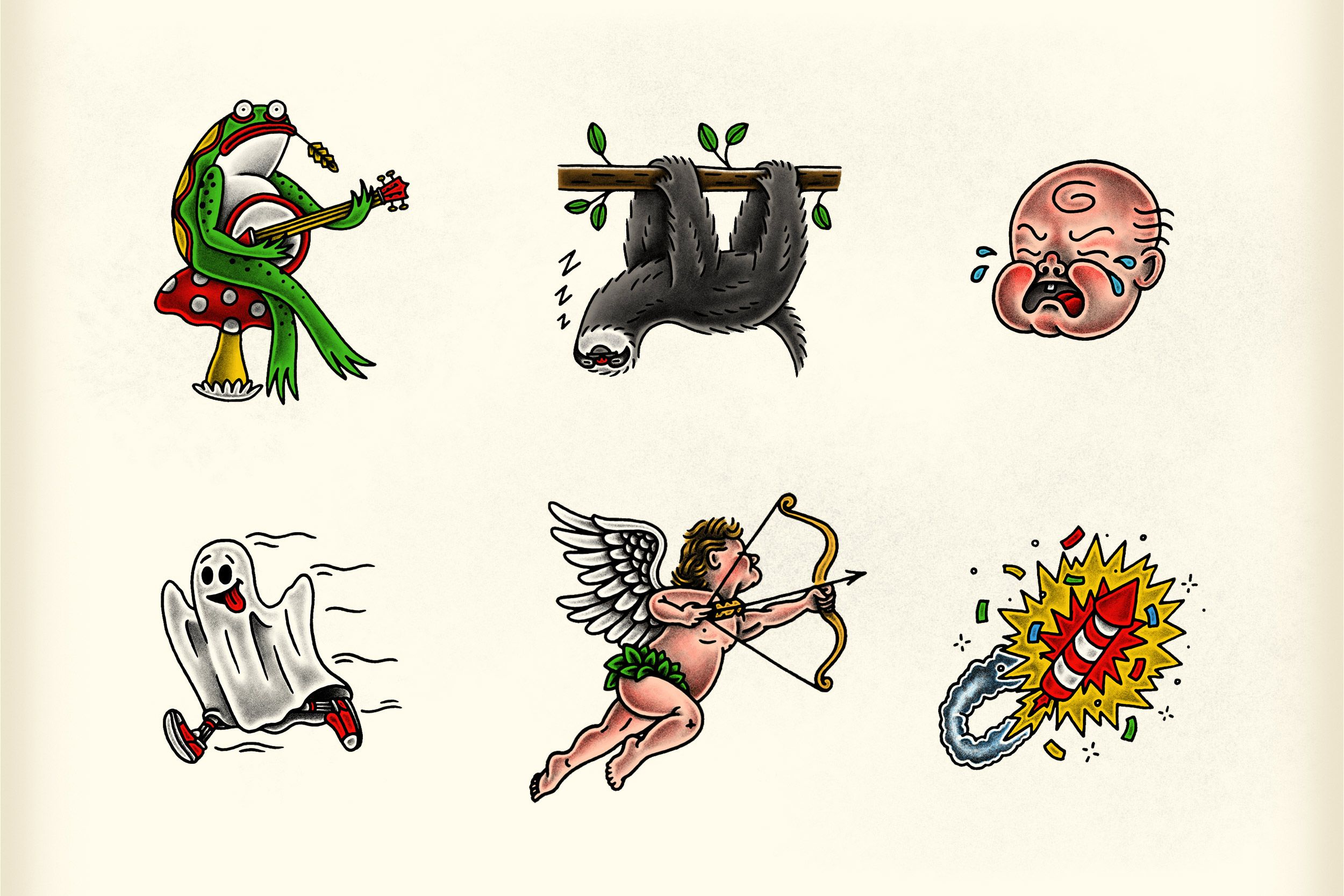 Traditional Flash Stickers for Sticker.Place on Behance