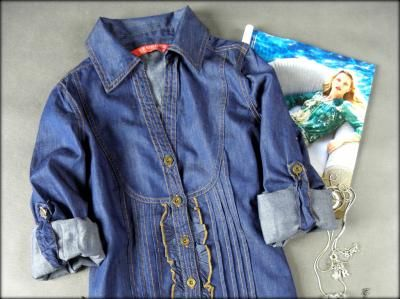 Koszula Jeansowa Tunika Japan Bluzeczka Bloge L Xl 3062099887 Oficjalne Archiwum Allegro Shirts Button Up Shirts Up Shirt