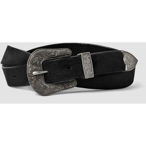 AllSaints Cowboy Jeans Belt (1.245 ARS) ❤ liked on Polyvore featuring accessories, belts, black, genuine leather belt, real leather belts, allsaints, cowboy leather belt and cowboy belt