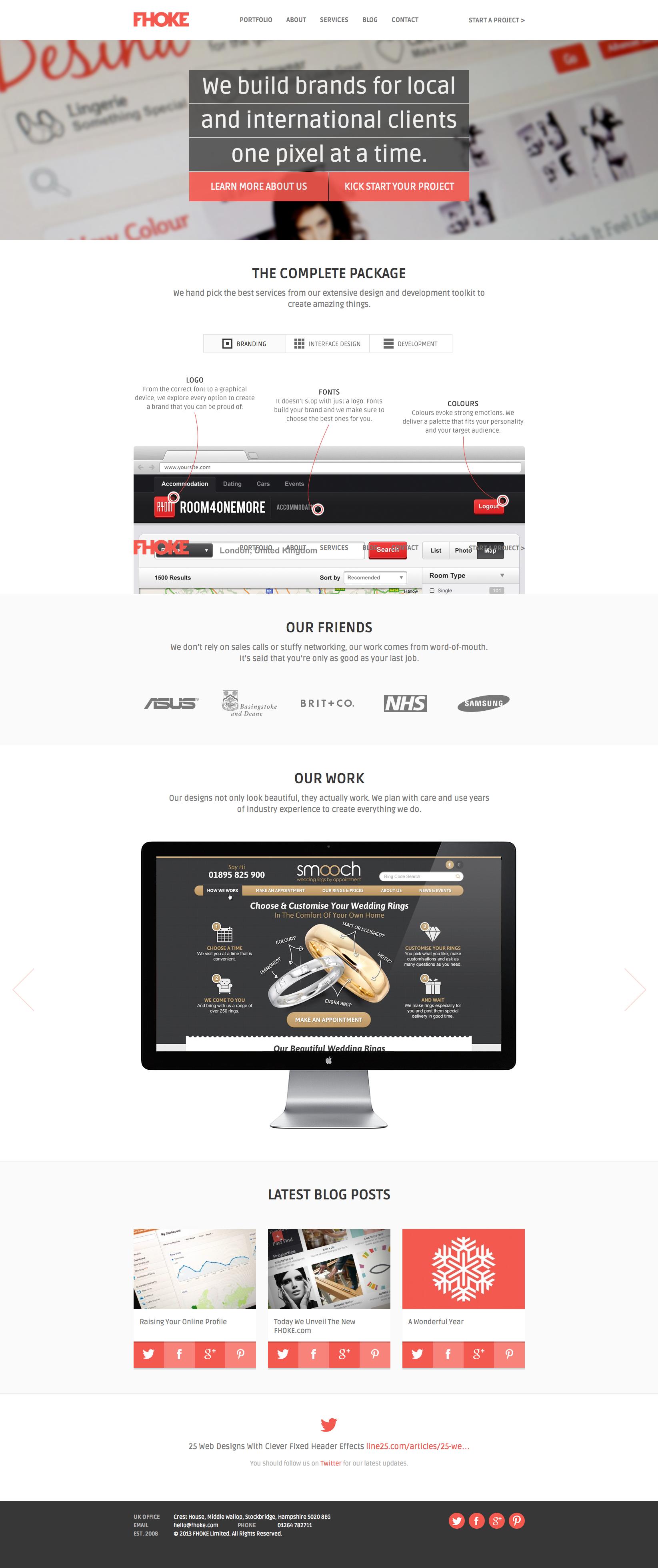 Fhoke Responsive Website Web Design Affordable Web Design Web Design Company