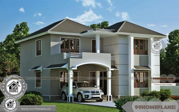 Modern Double Storey House Designs With Best 2 Story Home Elevations Contemporary House Design Double Storey House House Design