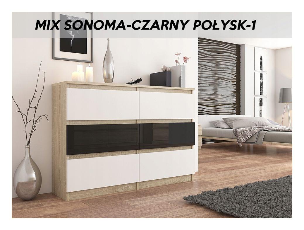Fira S3 Commode Contemporaine Chambre Salon Bureau 140x40x98 Cm