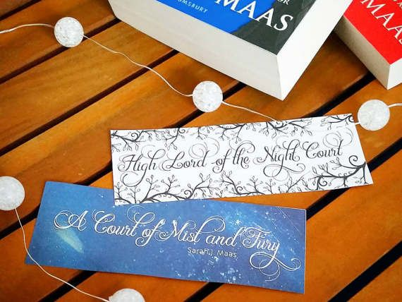 A Court Of Mist And Fury 8 Printable Bookmarks Night Court