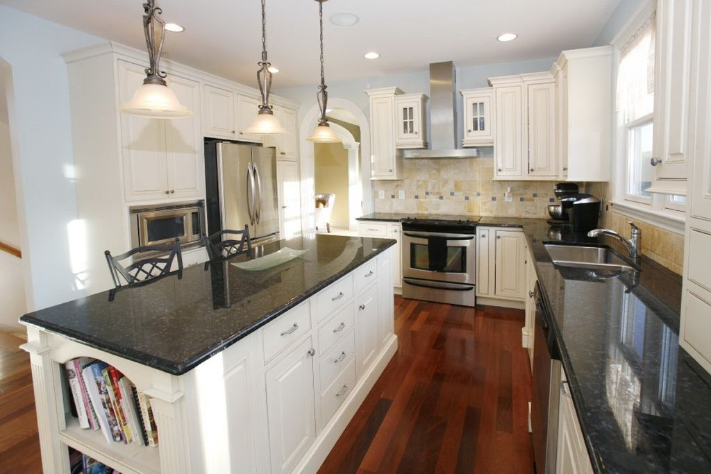 Traditional Kitchen With Brazilian Cherry Solid Flooring