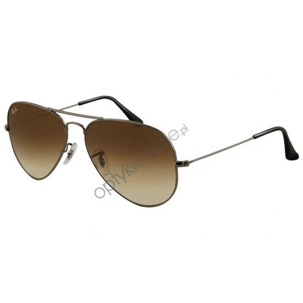 e17db9c92b83  RayBan  okulary  przeciwsłoneczne    AVIATOR large metal rb 3025  gunmetal  BROWN GRADIENT 004 51