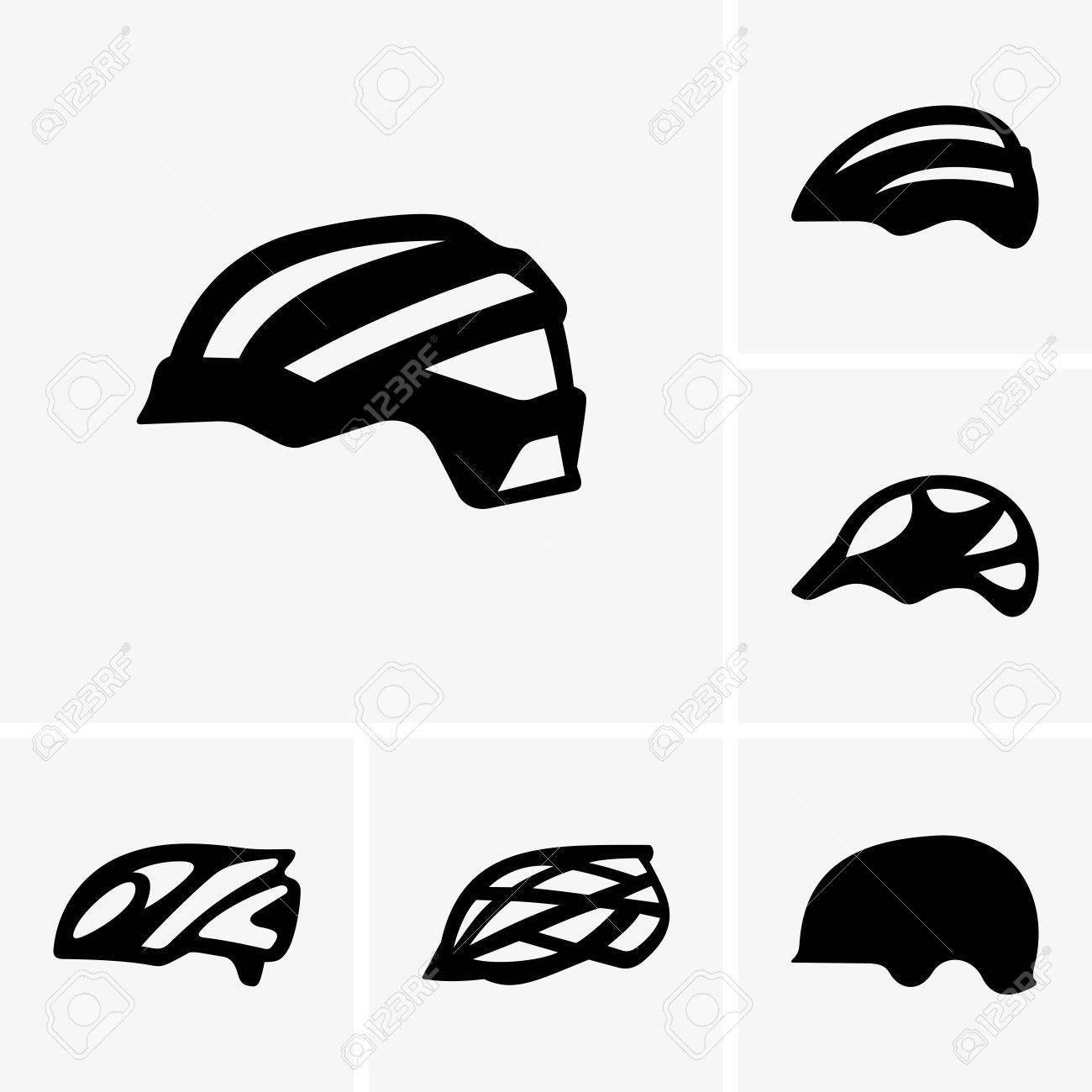 Stock Vector Helmet Bike Bicycle Helmet