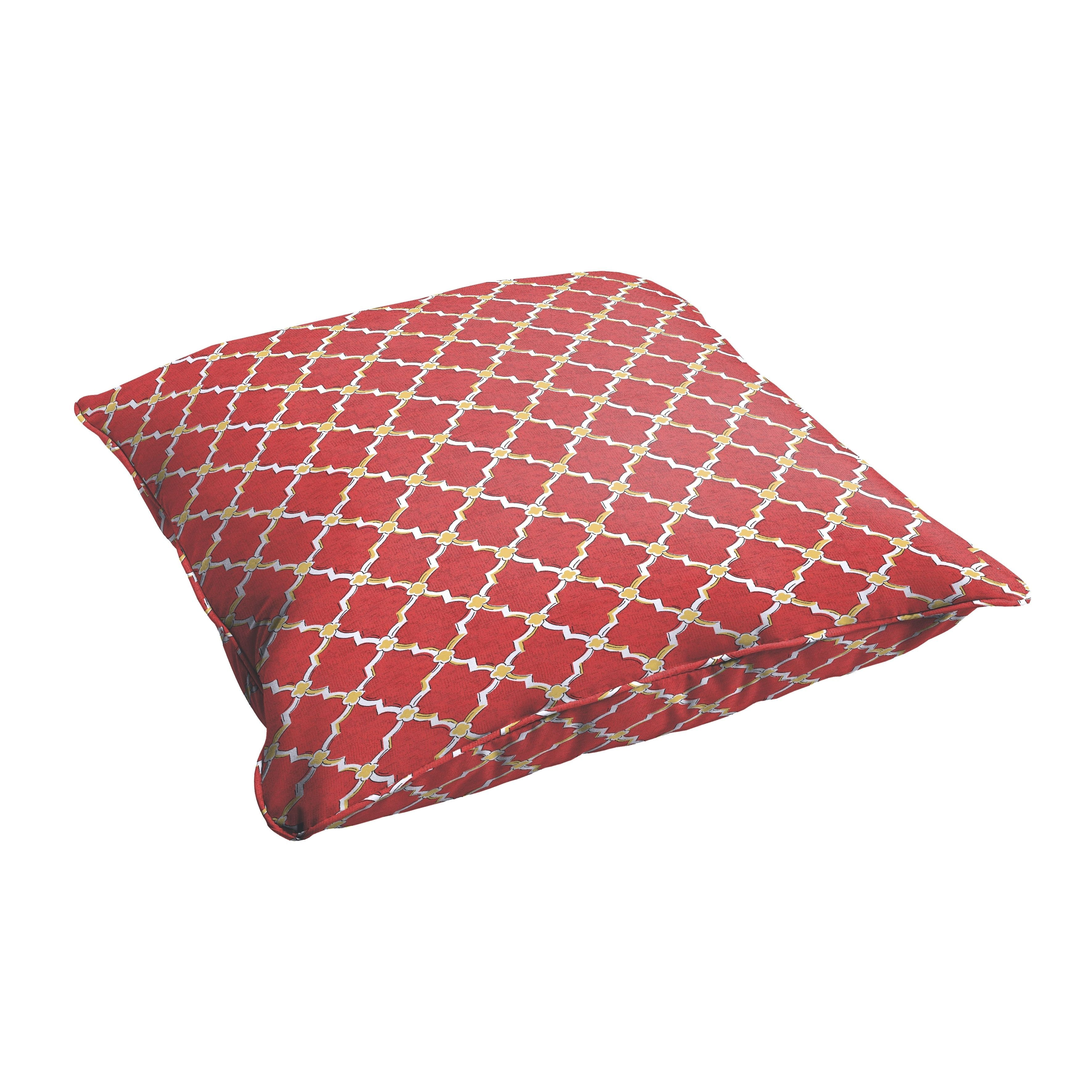 Selena Red Gold Berry 26 X Inch Indoor Outdoor Corded Edge Floor Pillow Osps4795 Fabric Cushion