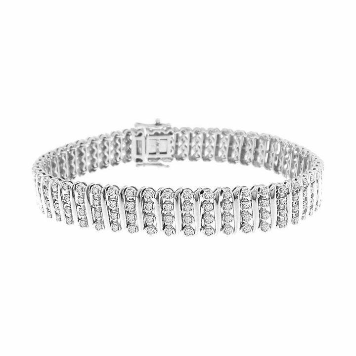 Fine Jewelry Womens 2 CT. T.W. White Diamond 14K Gold Tennis Bracelet W7CffwK