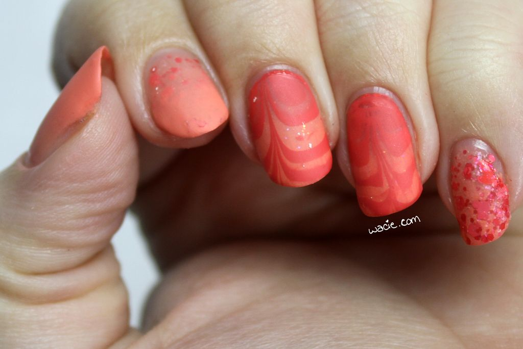 Fun With Pink and Coral Essie's Pink Glove Service and