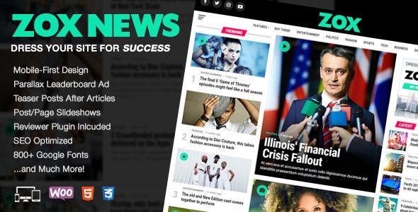Zox News - Professional WordPress News & Magazine Theme (News ...