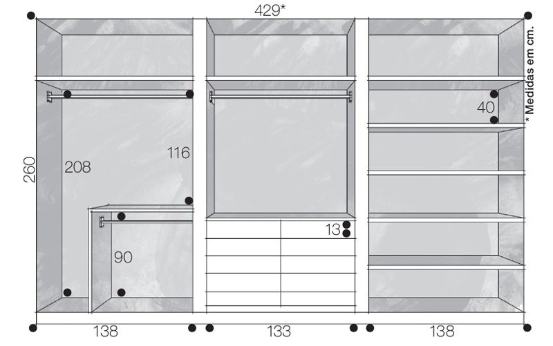 Well-known Closets e guarda-roupas bem organizados   Guarda roupas, Armário e  RU46
