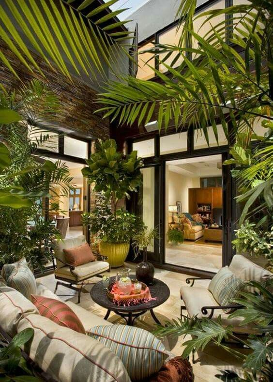 This Would Be A Great Pass Through Room Between A Home To Either A Guest Home Or A Parent Or Parent In Law Home Tropical Patio Outdoor Rooms Indoor Gardens