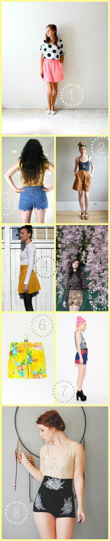 Summer Trends: High-Waisted Shorts on Etsy